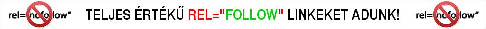 """Rel=""""follow"""" linkkatalógus és linktár. INGYENES linkbeküldés! 100%-osan keresőbarát!"""